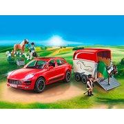 playmobil Porsche Macan GTS mit Pferdeanhänger