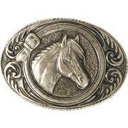 Gürtelschnalle Pferdekopf