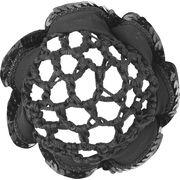 Knotenhaarnetz mit Pailettenband
