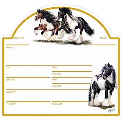 Stalltafel mit Pferdemotiv