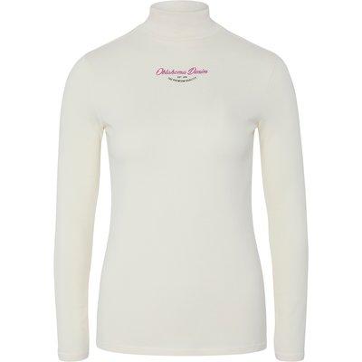 OKLAHOMA Premium Denim Rollkragen-Longsleeve winter white | XXL