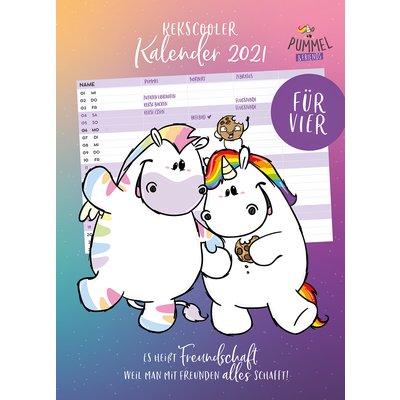PUMMELEINHORN Familienkalender für Vier 2021