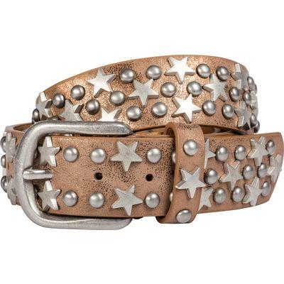 Loesdau Gürtel mit Metallic-Look mit Sternen