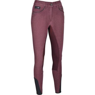 Pikeur New Generation Reithose Darjeen Grip Jeans bordeaux | 80