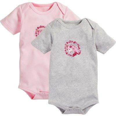 Playshoes Babybody Einhorn rosa/grau | 50/56