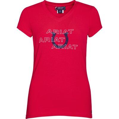 ARIAT V-Shirt 'Puff Print Logo Tee V-Shirt'