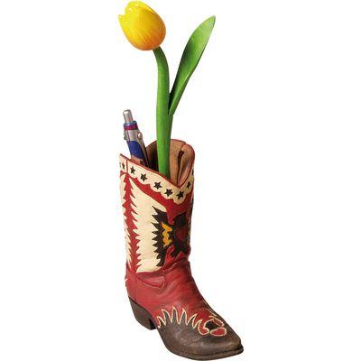 Vase oder Schreiberhalter Cowboyboot