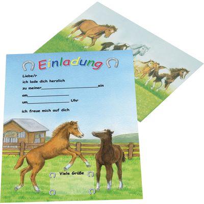 Einladungskarten Pferde im Galopp