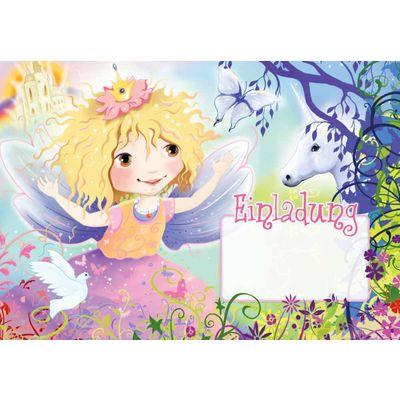 Einladungsset Einhorn und Prinzessin