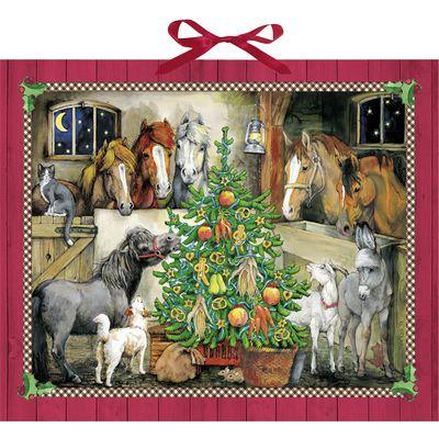 Adventskalender Pferde-Weihnacht