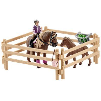 Schleich Reiterin mit Island Ponys