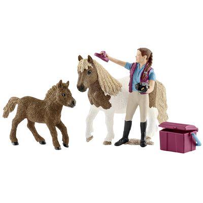Schleich Pferdepflegerin mit Shettys