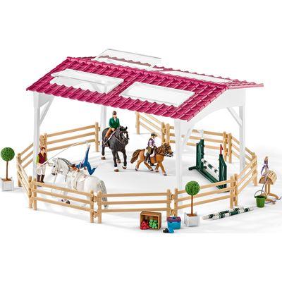 Schleich Reitschule mit Reiterinnen und Pferd