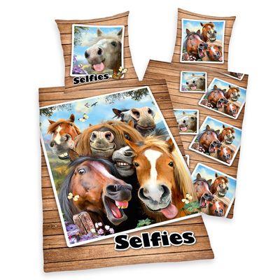 Renforcé Bettwäsche Pferde Selfies