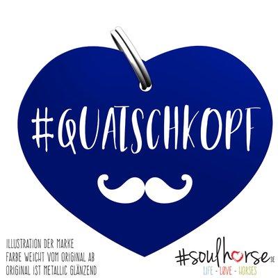 #Soulhorse Anhänger blau | Quatschkopf