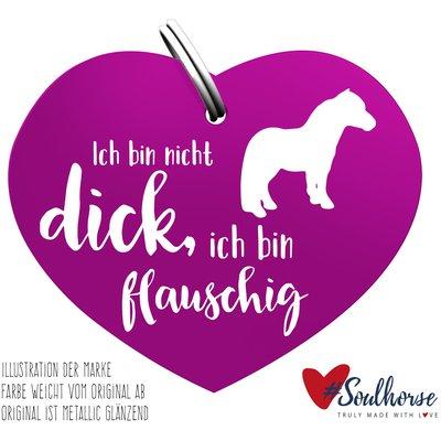 #Soulhorse Anhänger lila   Flauschig