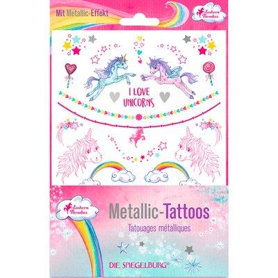 Metallic Tattoos Einhorn-Paradies