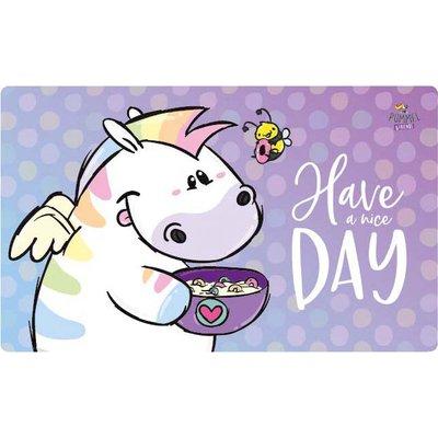 PUMMELEINHORN Frühstücksbrettchen Zebrasus nice day