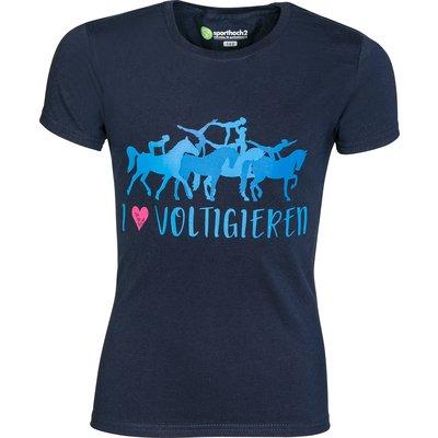 Ute Bächer Kinder-T-Shirt I love Voltigieren