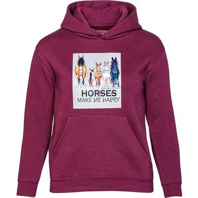 Ute Bächer Kinder-Hoodie Horses