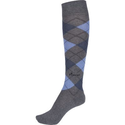 Pikeur Reitsocken grey melange/sky blue/smoked blue/anthracite | 41-43