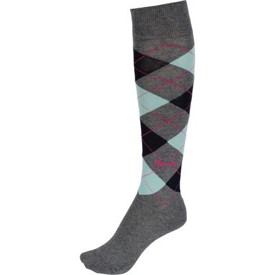 Pikeur Reitsocken grey/mint/navy | 35-37