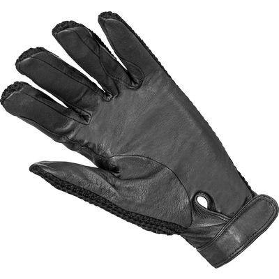 blck forest Strick-Lederhandschuhe schwarz | XS
