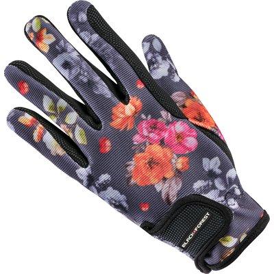 black forest Reithandschuhe mit Blumendesign