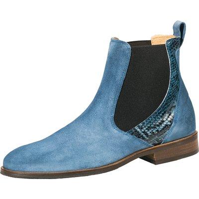Reitstiefeletten Chelsea blue Python