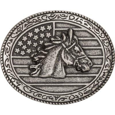 L-pro West Gürtelschnalle Pferdekop USA