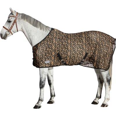 Horse-friends Fliegendecke mit insektenabwehrendem Muster black/savanne | 155 cm