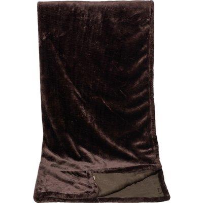 ESKADRON Couchdecke Fleece Stamp Platinum havanabrown