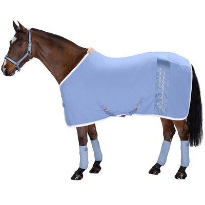 ESKADRON Classic Sports Abschwitzdecke Fleece Stripe skyblue   165 cm