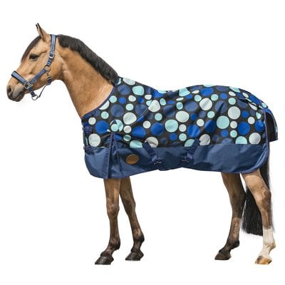 Horse-friends Outdoordecke Pony blue dots | 125 cm