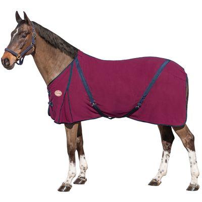 Horse-friends Transport- und Abschwitzdecke Polarfleece mit Kreuzbegurtung