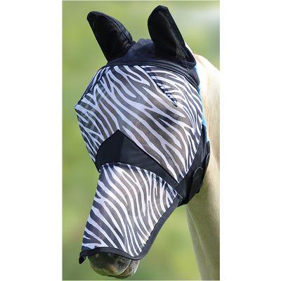 Shires Fliegenmaske Fine Mesh Zebra