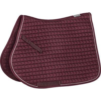 ESKADRON Schabracke Cotton blackberry/silver | Warmblut/Dressur