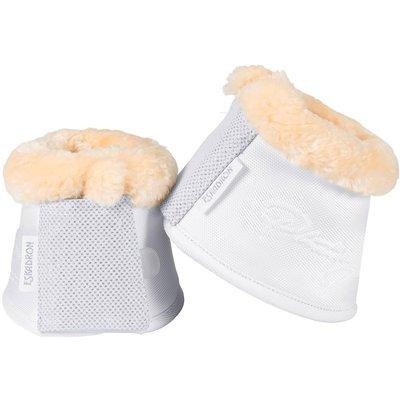 ESKADRON Platinum Pure Hufglocken Mesh Glitter Faux Fur white | M