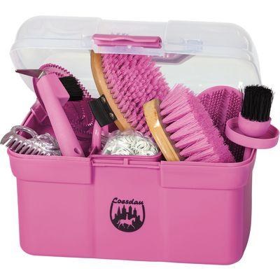 Kleine Putzbox mit Inhalt, Loesdau pink