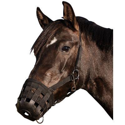 Maulkorb/Fresshemmer für Pferde, mit Halfter
