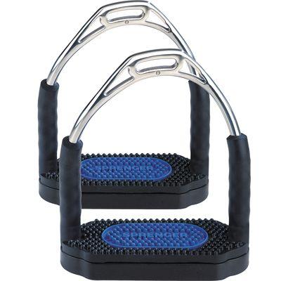 SPRENGER Steigbügel Bow Balance schwarz/blau | 12 cm
