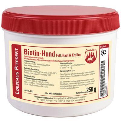 Loesdaus Pferdefit Biotin-Hund