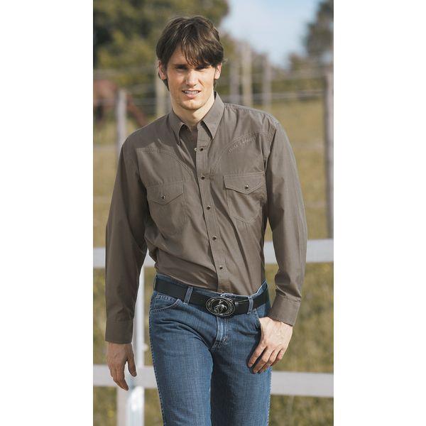 STARS & STRIPES Western- und Freizeithemd Bob Unisex grau   S