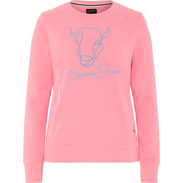 OKLAHOMA Premium Denim Sweatshirt strawberry pink   XS