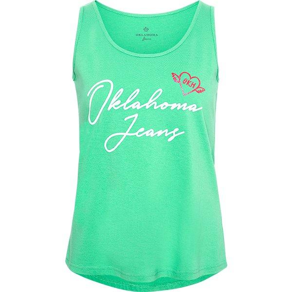 OKLAHOMA Jeans Tanktop jade cream | XXL