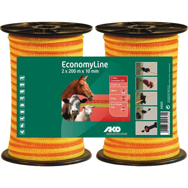 AKO Elektroband- Doppelpack 2er-Set mit je 200 Meter (10 mm)