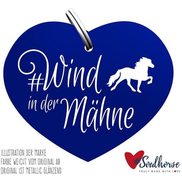 #Soulhorse Anhänger Isländer blau   Wind in der Mähne