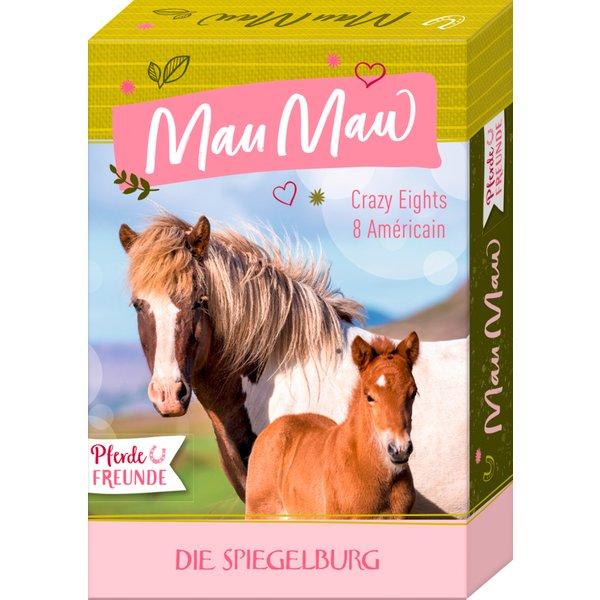 DIE SPIEGELBURG Kartenspiel Mau Mau Pferdefreunde