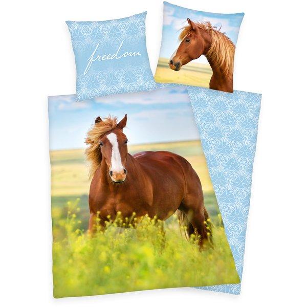 HERDING Bettwäsche Pferd Flanell