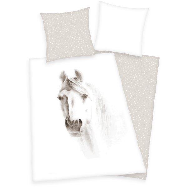 HERDING Bettwäsche Pferd Schimmel
